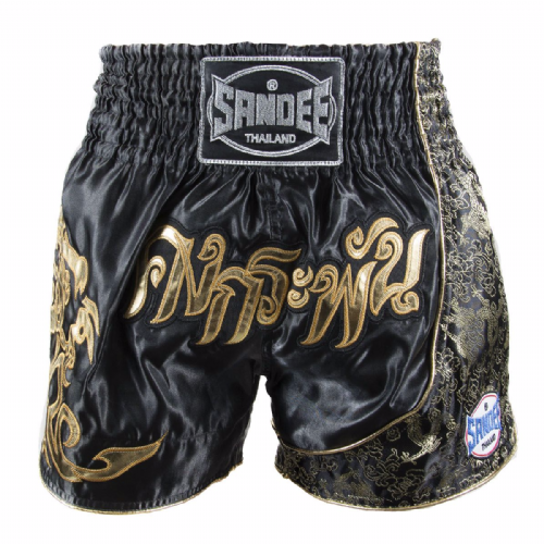 Sandee Unbreakable Muay Thai Shorts - Black/Gold